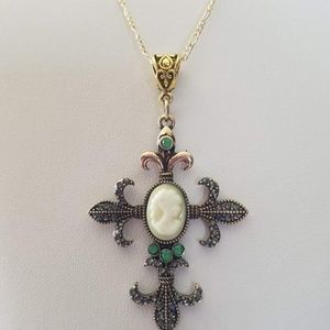 Cross Necklace/Gold Cross Necklace/Cross